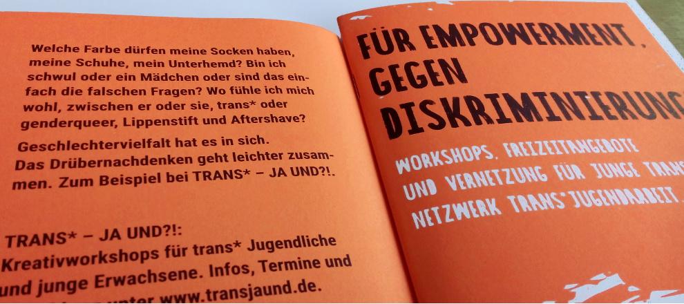 Broschüre Trans - Ja Und?!